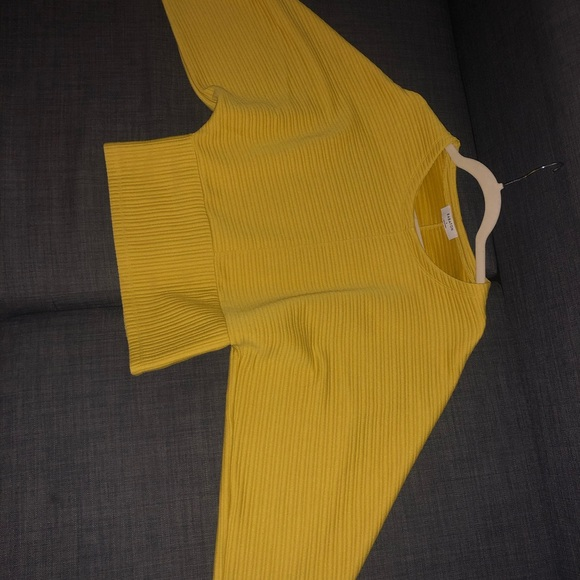 Babaton Mustard Batwing Sweater (white available)